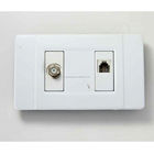 America standard sat tv and tel socket outlet for south america and central america