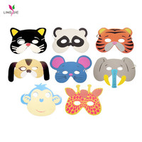 Mask Birthday Party Supplies EVA Foam Animal Masks Cartoon Kids Party Dress Up Costume Zoo Jungle Mask Party Decoration