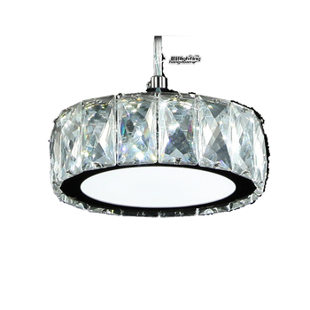 Single Pendant Light Crystal Hanging Lamp Stainless Steel Led 12