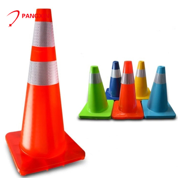70cm orange high reflective grade flexible PVC traffic cone