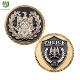 Wholesale factory customized soft enamel double plating police 3D challenge coin