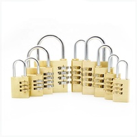 multi-size high quality combination brass padlock 3 and 4 code number