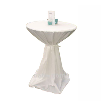 White Wedding Tail Table Cover