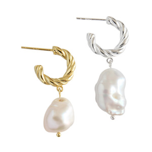 Latest design 925 sterling silver shell pearl earrings BF1189