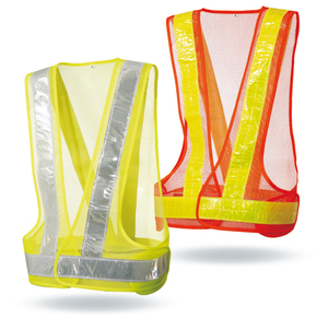 Hot Sales Fluorescent Mesh Cycling Safety LED Flashing Lighted Reflective Running Vest