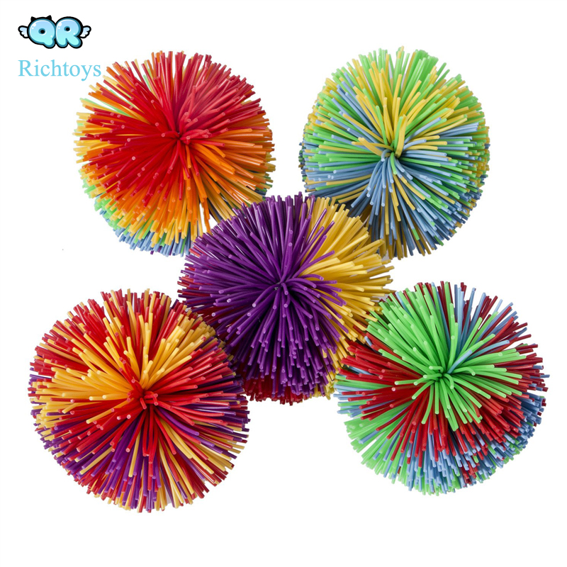 2019 new hot selling monkey stringy balls, silicone fluffy juggling bouncing koosh ball