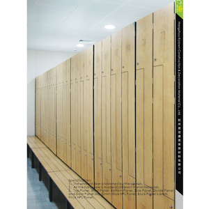 Compact HPL Laminate Bench and Locker Room H1850*W900*D420mm big hpl lockers