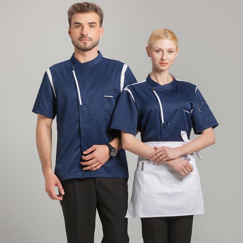 Uniforms & Work Clothing Clothing, Shoes & Accessories Short Sleeve Kitchen Cooker Working Uniform Chef Waiter Waitress Coat Jacket Hot Sale 50-70% OFF
