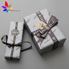 패션 Custom Brand Name Logo Satin Printing Ribbon in 롤 대 한 Gift 포장