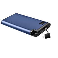 2020 fast charging power bank 10000mah with 18W power banks built-in extendable cables