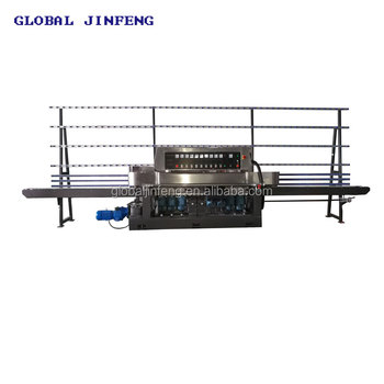 China automatic 9 motors fine grinding glass edger polisher machine