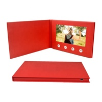 Customized lcd screen musical invitation card Digital video booklet book card lcd business