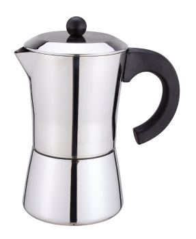 Matt finish Moka pot, Italian Espresso Coffee Maker, Colored Stainless Steel Espresso Maker Machine with Safety valve and handle