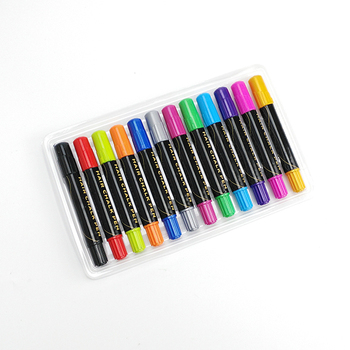 12/24 Colorful Hair Salon Non-toxic Hair Chalk Pen Set For Parties,Halloween,Cosplay,Festivals Etc.