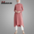 Fashion Simple Style Casual Muslim Tunic Tops New Style Arabic Abaya For Women