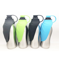 Wholesale travel portable pet dog water bottle bpa free