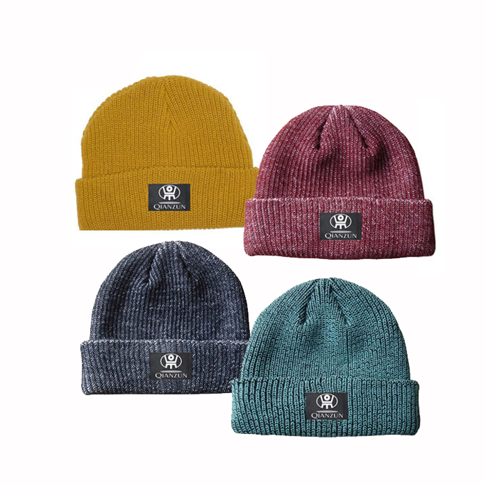070cf6f3 Colorful Hip quality acrylic Custom Solid color Knitted Hats winter knitted  Beanie hat