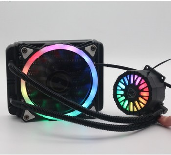 12v Computer Case Liquid 120 Cpu RGB Fan Water Cooling with 12025 rgb cooling fan