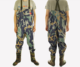 camo fabric neoprene breathable fly fishing wader hunting pants with rubber boots