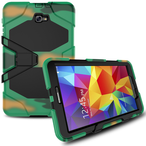 Full Cover Shockproof Hybrid Armor Case for Samsung Galaxy Tab A 10.1 T580 with Kickstand and Screen Protector