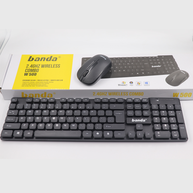 hot sell wireless basic office Keyboard mouse combo for desktop, Laptop, Computer