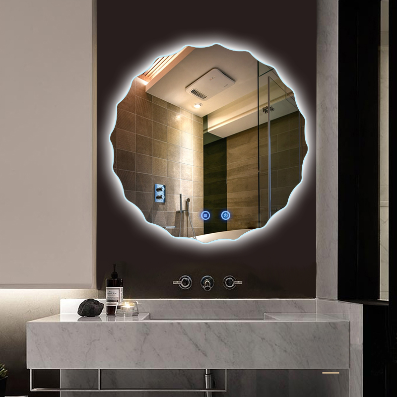 Large Hollywood Wall Decorative Light Makeup Vanity Bathroom Mirror Round  With Led - Buy Mirror Touch Dimmer Switch,Mirror Screen Android,3mm Thick  ...