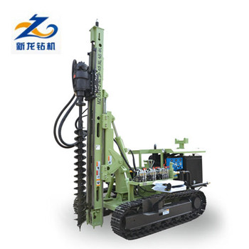 Mini ground hydraulic screw pile driver with electric starting diesel engine for solar farm project installation