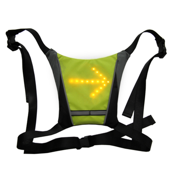 2019 Cycling Bicycle Vest LED Wireless Safety Turn Signal Light Vest for Bicycle Riding Night Warning Backpack Guiding Light
