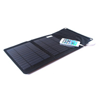 12W Folding Solar Panel Mobile Phone Charger Kit, 2 USB Outputs for iPhone/iPad, Outdoor Camping Solar Powered Charger Charger