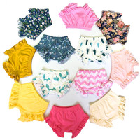 Baby Ruffle Bloomer Cotton Baby Diaper Cover For Infants Shorts Wholesale Baby Bloomer Toddler Girls Lovely Bloomer