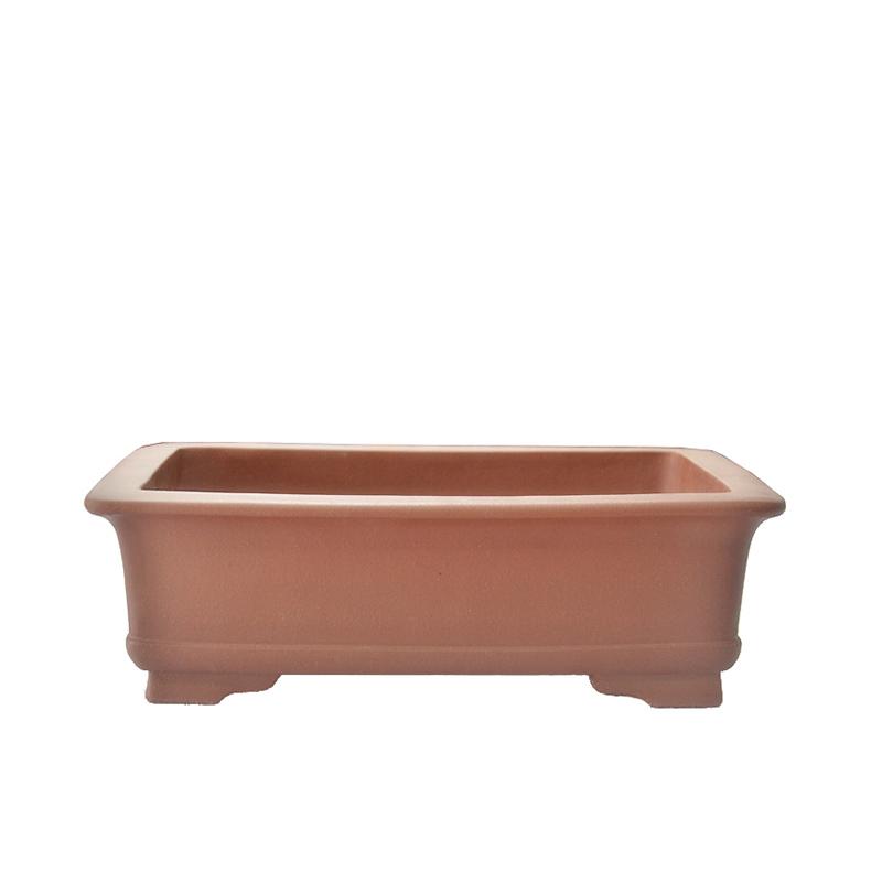 "PB2-24 Unglazed Large 24/"" Oval Yixing Purple Clay Ceramic Bonsai Pot"
