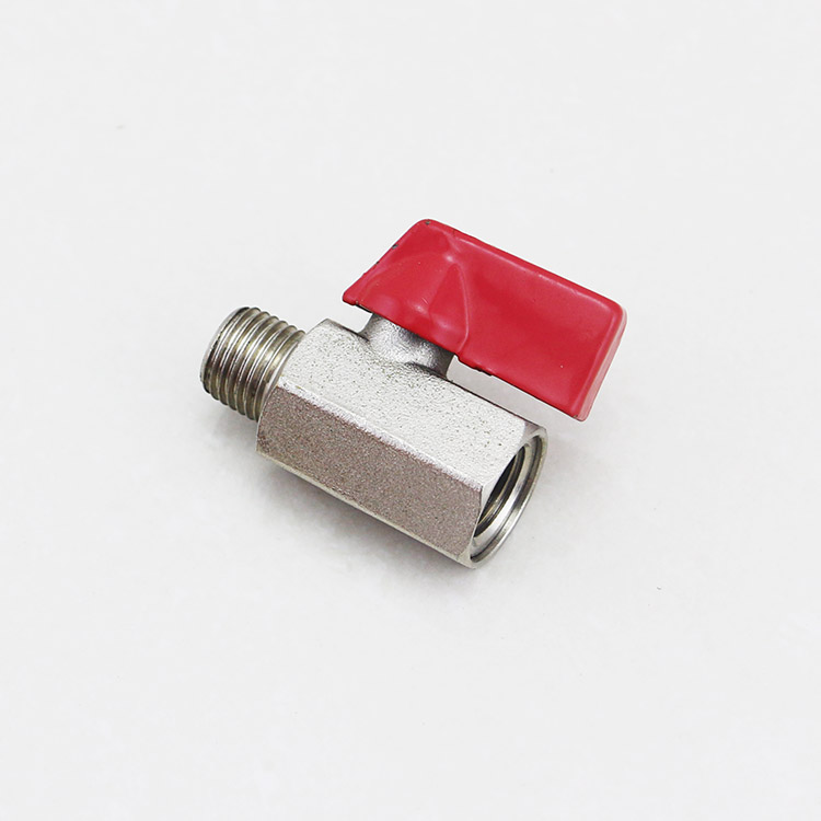Good price Mini Ball Valve 3/8'' Inside and Outside Silk Threaded Fitting , Brass Ball Valve For Oil Water <strong>Gas</strong>