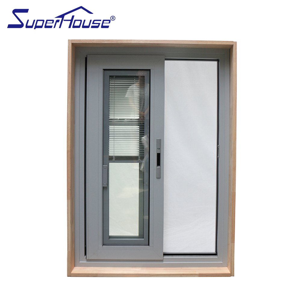Aluminum Windows And Doors Design Fixed Pane Glazing Sliding Fire Rated Residential Window Blinds Inside With Flynet