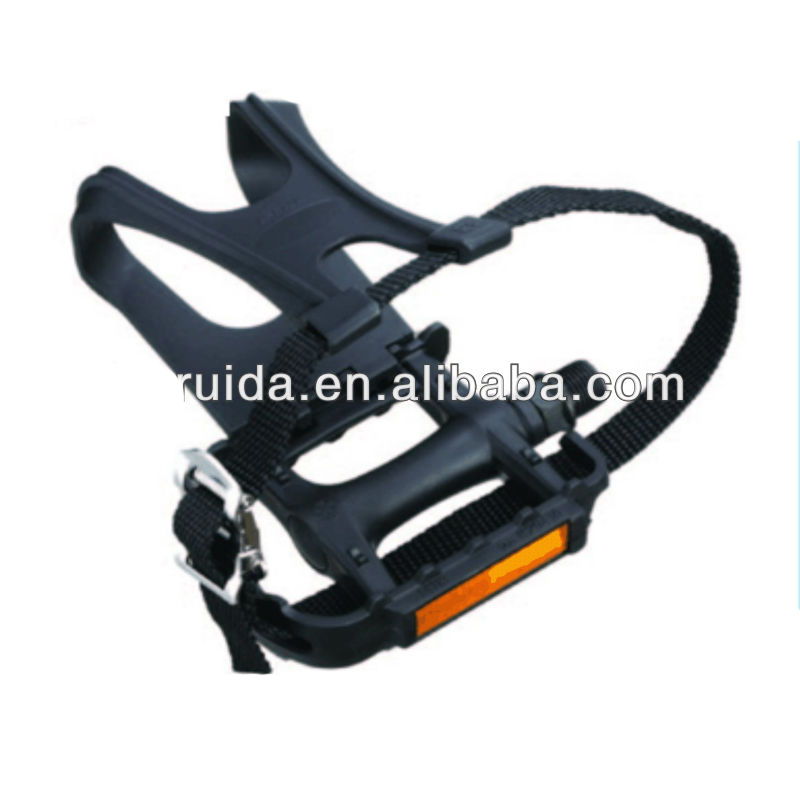 Bike Pedal Toe Clip Strap Buckle Kit