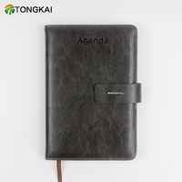 PU agenda hard cover notebook diary book with magetic buckle replace inner page