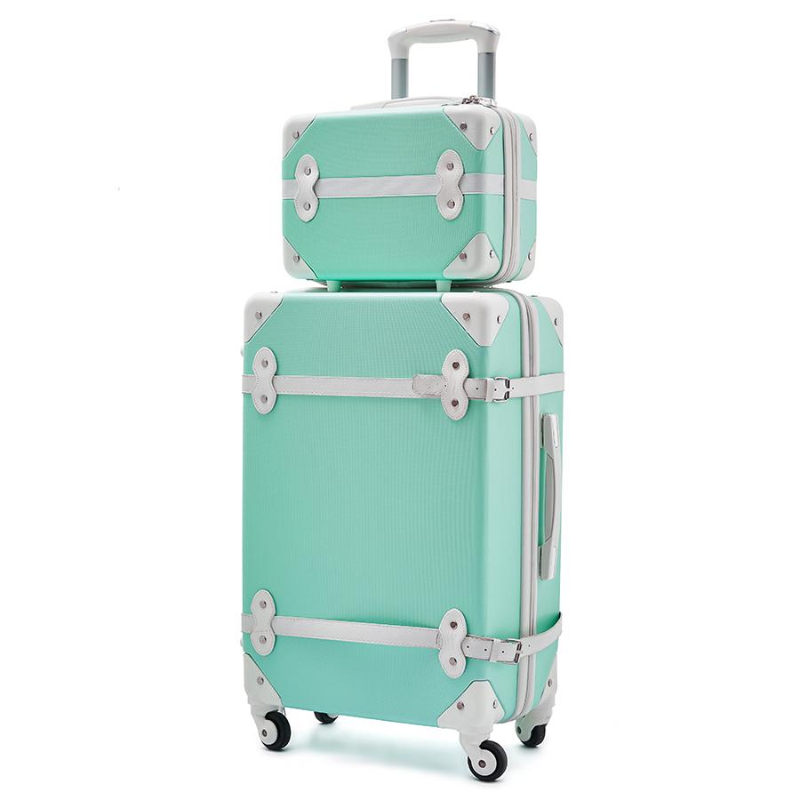Valises Vintage pour filles ensemble de bagages 3 pièces valises Trolley