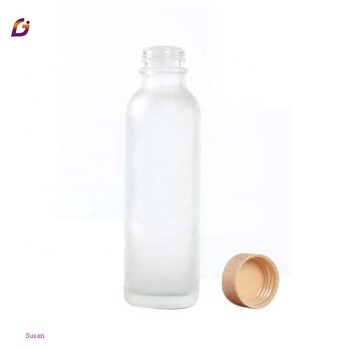 High quality frosted glass bottle jars