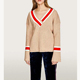 Autumn New Product Striped Sweater V Neck Sweater Woman