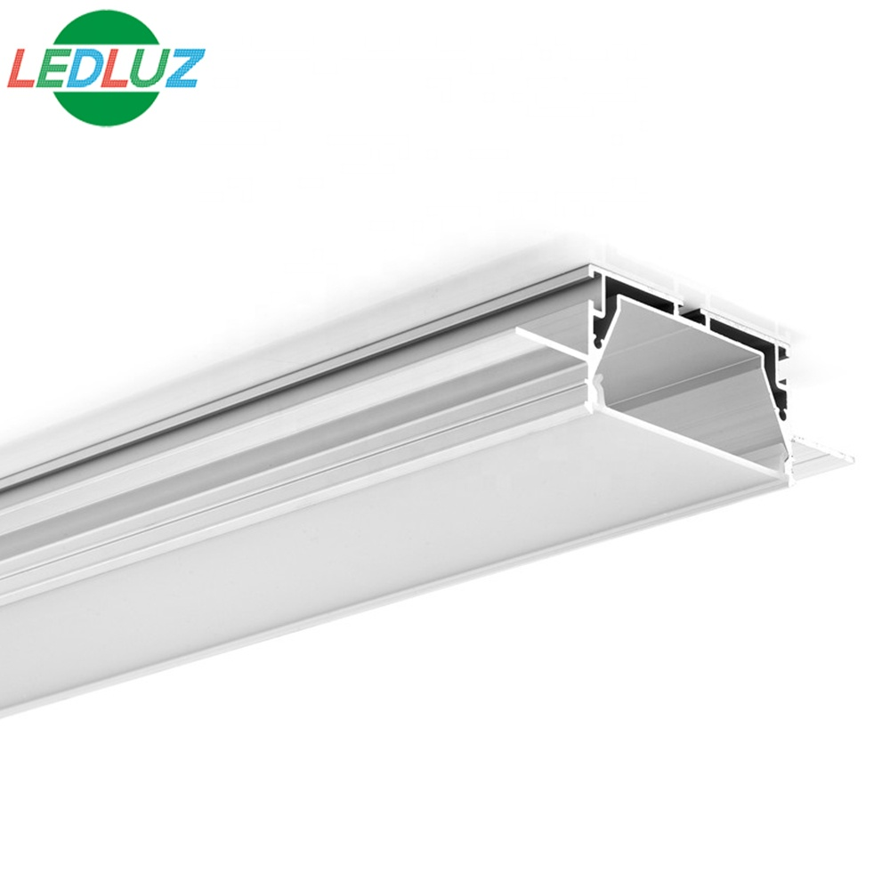 75mm/3'' width plaster trimless LED Aluminum Drywall LED profile channel with high light output PC opal diffuser