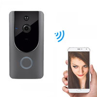 Rechargeable Battery Power WiFi Doorbell Camera Wireless 720P PIR Alarm