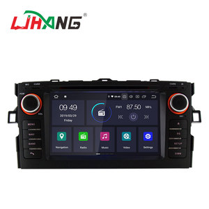 Wholesale android 9.0 2+16G quad core car tv radio dvd player for TOYOTA AURIS 2008 support mirror link