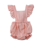 Wholesale 0-2year Infant Toddler Clothing 2019 Summer Toddlers Bind Rompers High Quality Newborn Jumpsuits Climb Clothes