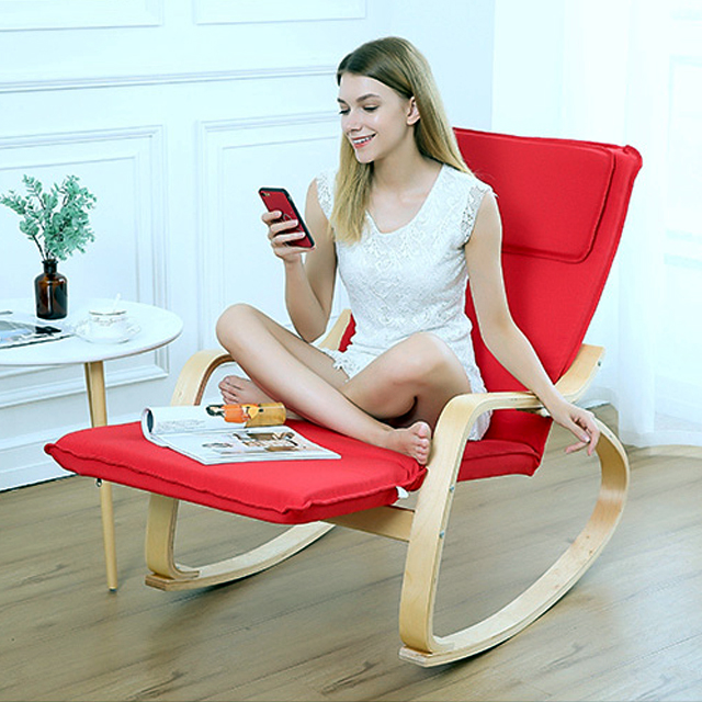 2019 Amazon hot sale natural solid wood rocking <strong>chair</strong> in indoor