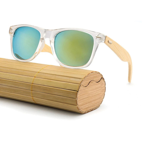 Outdoor Original Wooden Bamboo Mirrored UV400 Sun Glasses Sunglasses 2019