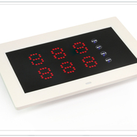 LED Display to show guester calling system can place on the table with touch screen