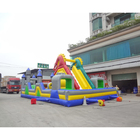 Large inflatable slide fun city inflatable amusement park with obstacle course
