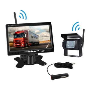 Wireless 7 inch monitor + waterproof Night Vision Camera Heavy Duty Car Bus Truck Trailer Rear View Backup Reverse System