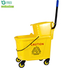 Wholesale Hotel Cleaning Plastic Janitorial Cart Mini Wringer Mop Bucket With Wringer for cleaning company