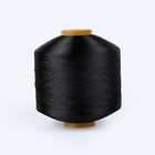 AA Grade Eco-Friendly 75D dope dyed Black FDY Recycled 100%polyester Yarn for weaving