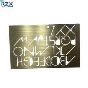 Hollow-carved design golden metal business card